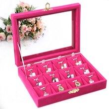 A211-1 collar mostrar caja cosmética de acrílico del organizador del soporte de exhibición de La Joyería y de almacenamiento de Joyas Caja de Almacenamiento