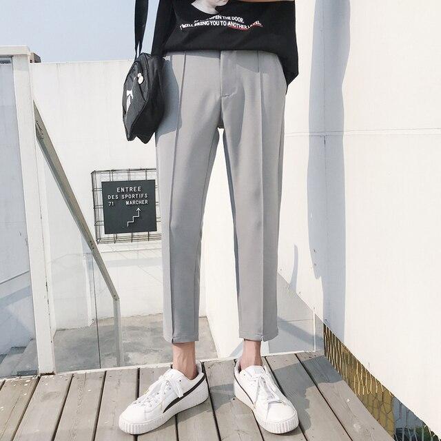 2018 Japanese Men's Cotton Casual Harem Pants Fashion Trend Trousers Hip Hop Style Loose Large Size Black/khaki Pants M-3XL 3