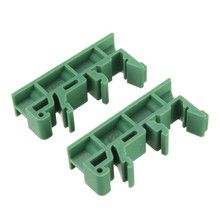 High quality 1 set of Simple PCB Circuit Board Mounting Bracket For Mounting DIN Rail Mounting 2x Adapter+4x Screws(China (Mainland))