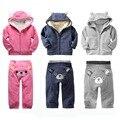 Ropa 2012 hombres otoño e invierno niña pequeña ropa de los niños gap1 2 3 bebé engrosamiento establece