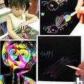 10 Лист 16 К Красочные Царапинам Искусство Волшебные Рисунок Игрушки Живопись Бумаги Детские Игрушки Подарок Новый