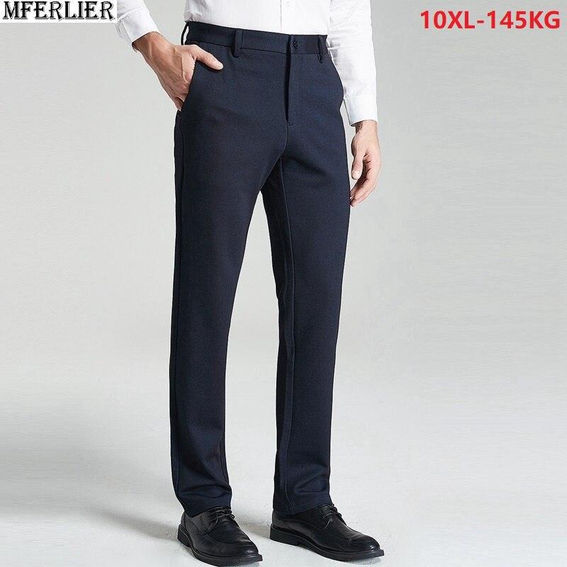 Babykleidung Jungen Männer Büro Anzug Hosen Hohe Qualität 9xl 10xl Fleece Dicke Geschäft Plus Große Größe Große 50 52 Warme Hose Winter Gerade Hosen