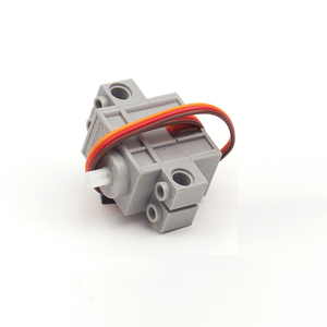 Image 5 - 2 Chiếc 270 Độ Có Thể Lập Trình Xám Geek Servor + 2 Đỏ Động Cơ Giảm Tốc Cho Micro: bit Robotbit Lego Xe Thông Minh Makecode MB0008