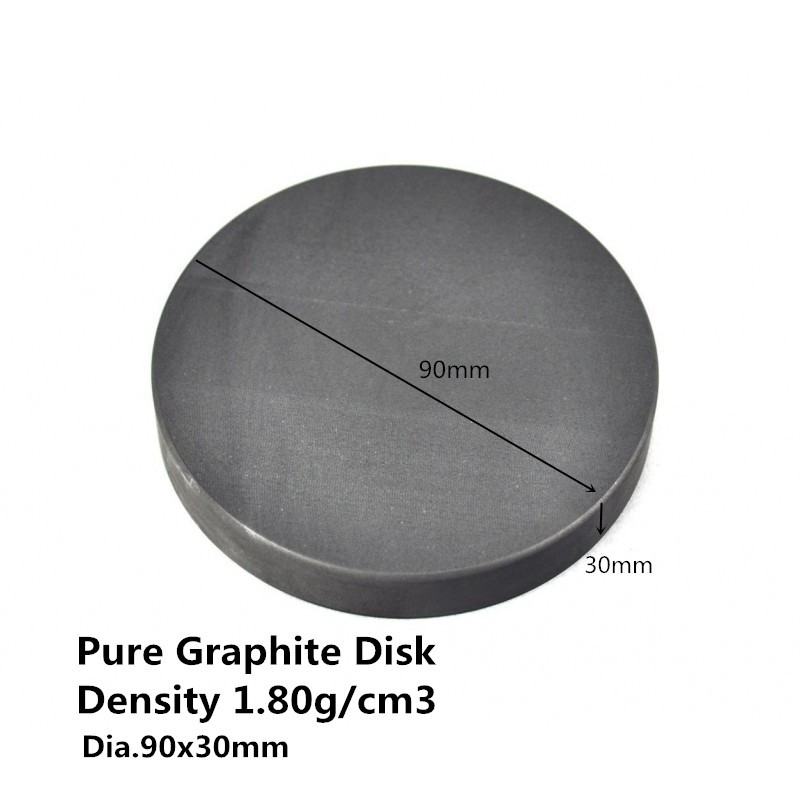 Dia.90*30mm Graphite Round Plate ,graphite rod for stirring molten metals,graphite disc
