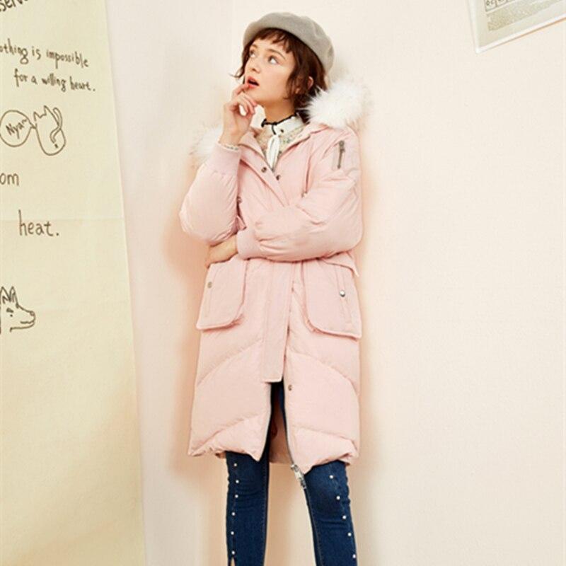 Bas Taille Fourrure Col 2018 Manteau Lcy952 Nouvelle Gamme pink Hiver Outwear Capuchon Parkas Mode À Section Vers De Haut Femmes Grande Le Longue Épaissir Veste Dark Grey zqTvBrqOw