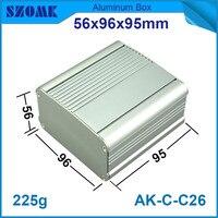 1 piece grey heatsink aluminium cabinet powder coating metal switch housing case 56*96*95mm|case case|case housingcase 6 -