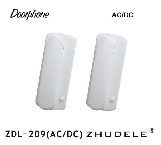 Einfache Diy Installation Zhudele Zdl-209 Ac/dc Home Security Intercom Türsprechanlage 2-draht Neue Audio Tür Telefon 200 Meter Abstand Hohe Belastbarkeit