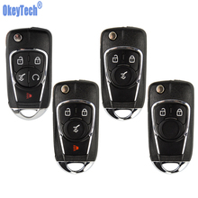 OkeyTech Flip Key Shell For Chevrolet Cruze For Buick For VAUXHALL OPEL Insignia Astra J Zafira C Replacement 2/3 Buttons Fob qwmend car remote key shell for opel vauxhall astra j corsa e insignia zafira c for chevrolet cruze 2009 2015 hu100 blade key