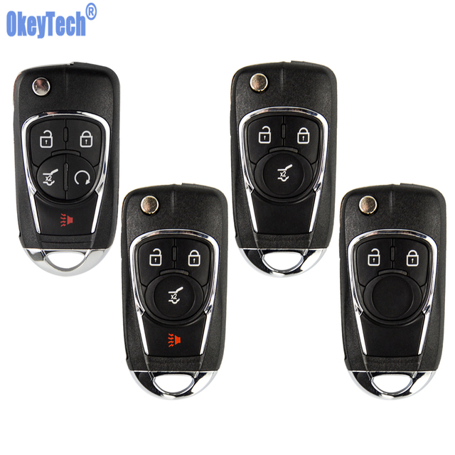 OkeyTech Flip Key Shell For Chevrolet Cruze For Buick For VAUXHALL OPEL Insignia Astra J Zafira C Replacement 2/3 Buttons Fob