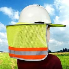 New Hot Sun Shield for Hard Hat High Visibility Reflective Full Brim Mesh Sun Shade Neck Protection NV99