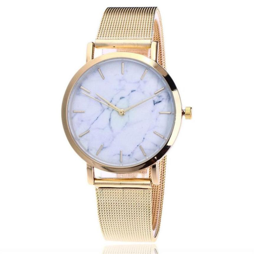 2018 Sprzedaż moda zegarki damskie zegarki różowe złoto Casual - Zegarki damskie - Zdjęcie 4