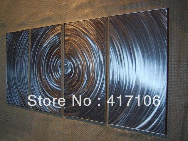 64 gratis verzending hedendaagse metal wall art decor for Schilderij op aluminium