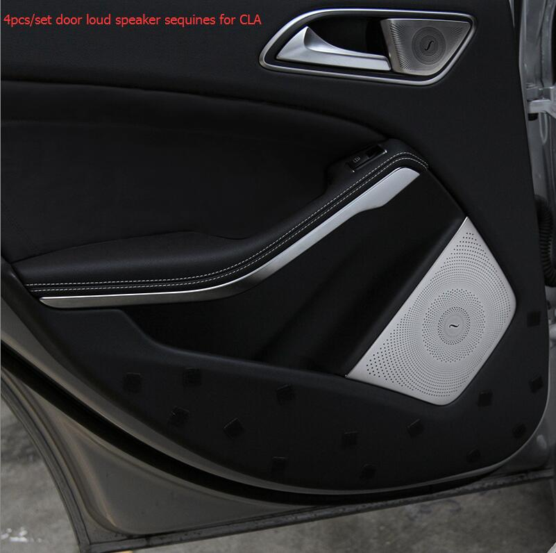 ФОТО Free shipping top quality 4pieces/set car louder speakers cover for Mercedes-Benz CLA