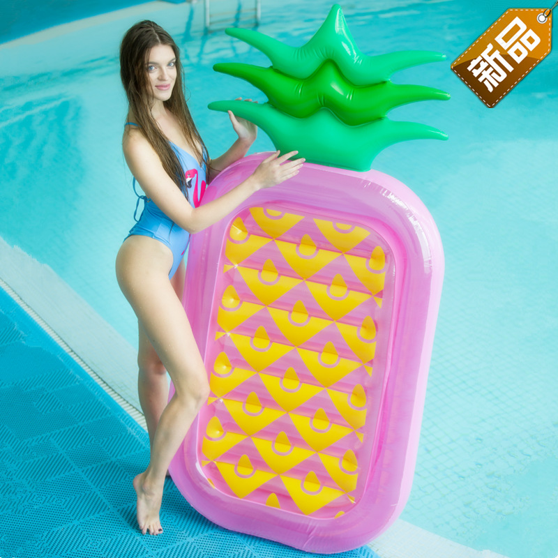 Sports & Entertainment Ins Hot Pineapple Inflatable Pool Float 2019 Summer 180cm Giant Adult Swimming Ring Beach Water Toys Air Mattress Boia Piscina Limpid In Sight