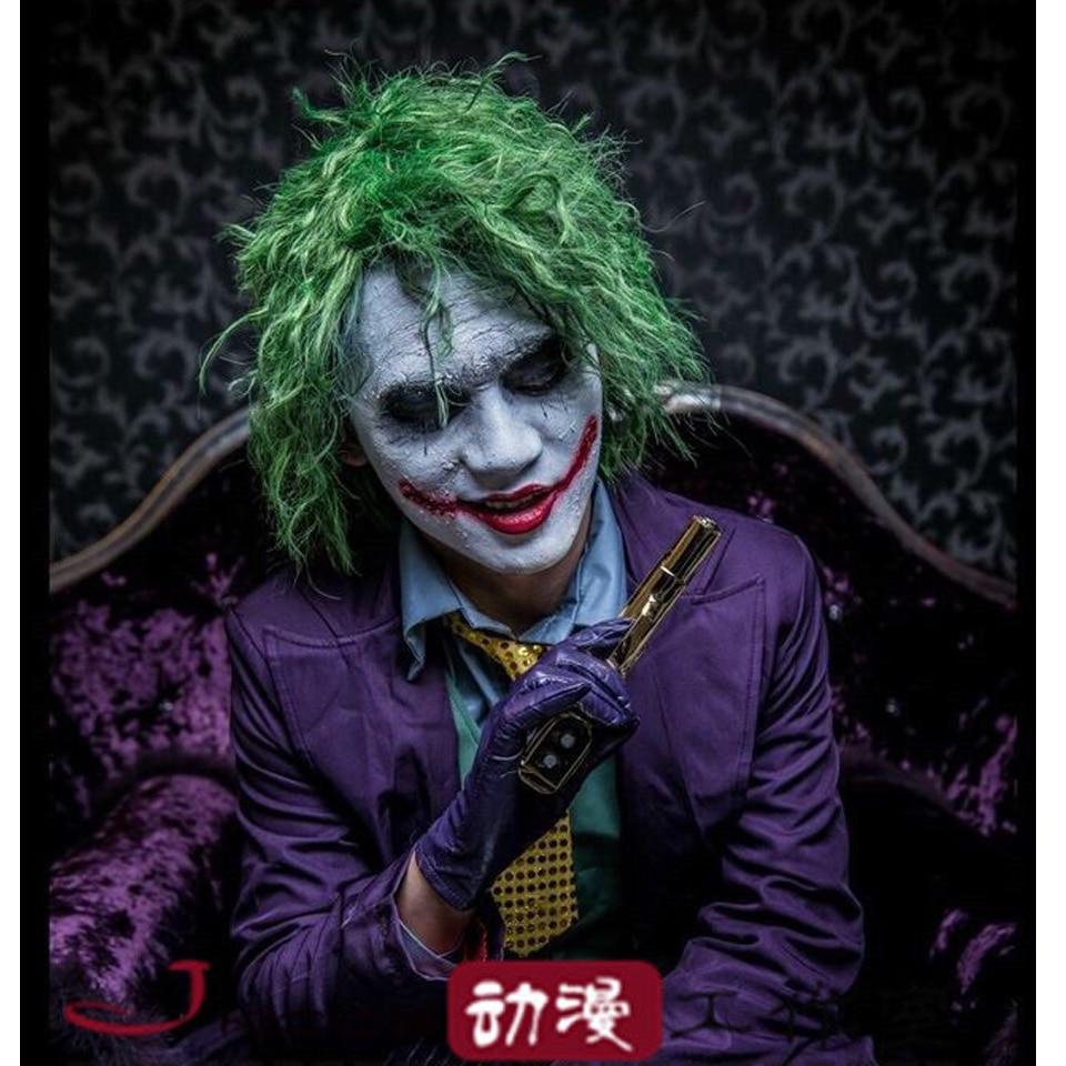 Sofeel 30cm Batman Clown Joker Light Green Curly Cosplay Wig Cool Synthetic Hair Anime On Aliexpress