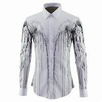 2016 מותג יוקרה בגדי שמלת חולצה גברים חולצות גברים חולצה ארוכת שרוול למעלה איכות Slim Fit כותנה חולצות גודל M-3XL