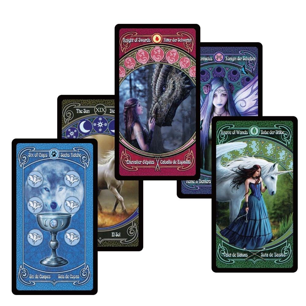 2018 legendären tradition tarot karten decks Englisch Spanisch Französisch Deutsch version für den persönlichen gebrauch geheimnis divination bord spiel
