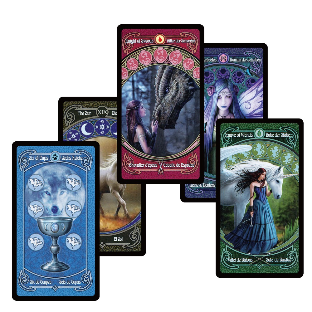 2018 legendary tradition tarot cards decks English Spanish French German version for personal use mystery divination board game