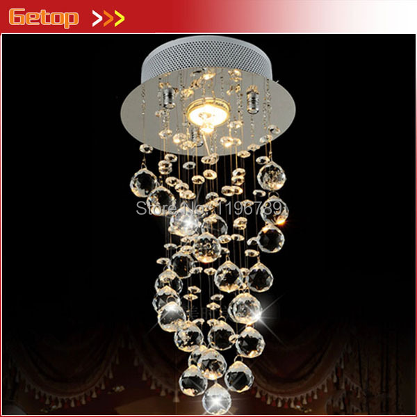 LED Crystal Chandelier Bedroom Corridor Crystal Chandelier Hallway Entrance Bar Balcony D200*H550mm Free Shipping