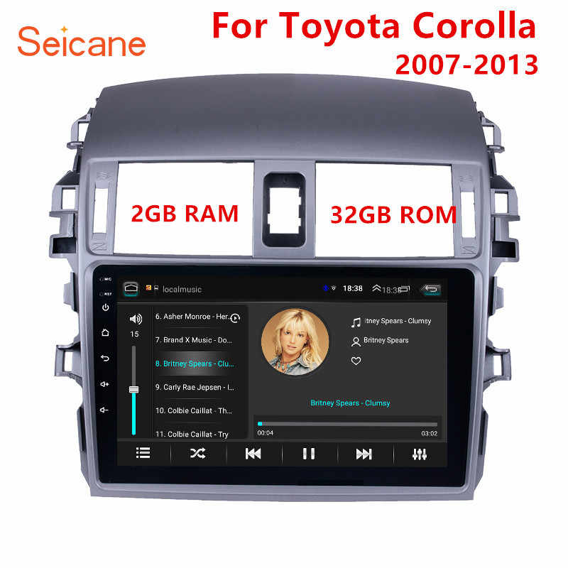 "Seicane 2GB RAM 9"" 2din Android 8.1 GPS Navigation Radio For 2007 2008 2009 2010 Toyota OLD Corolla Bluetooth Music Stereo"