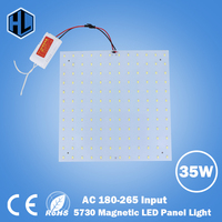 free shipping 180 265V Square 35W SMD5730 Magnetic LED Ceiling Light Bulb LED Panel Lamps for Replacement ceiling light