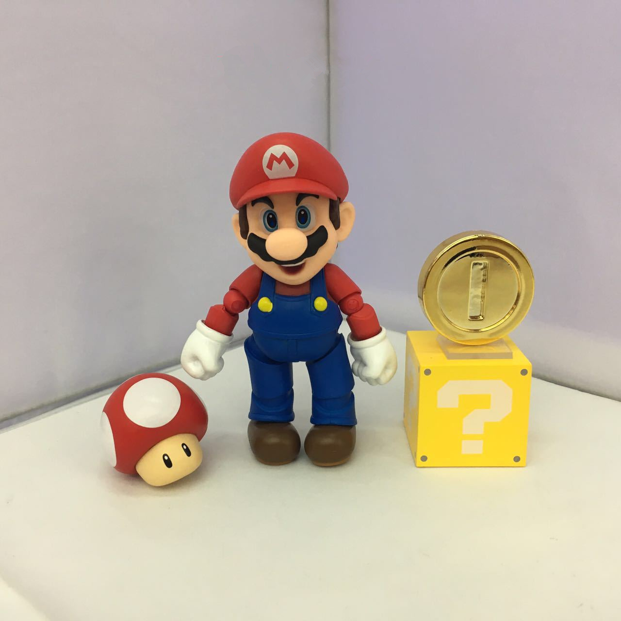 SHFiguarts Super Mario Bros Mario & Toad / Luigi & Koopa PVC Action Figure  Collectible Model Toy 11cm KT3857-in Action & Toy Figures from Toys &