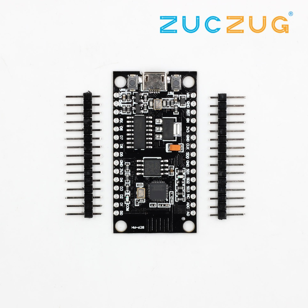 1pcs V3 NodeMcu Lua WIFI module integration of ESP8266 + extra memory 32M Flash, USB serial CH340G-in Integrated Circuits from Electronic Components & Supplies