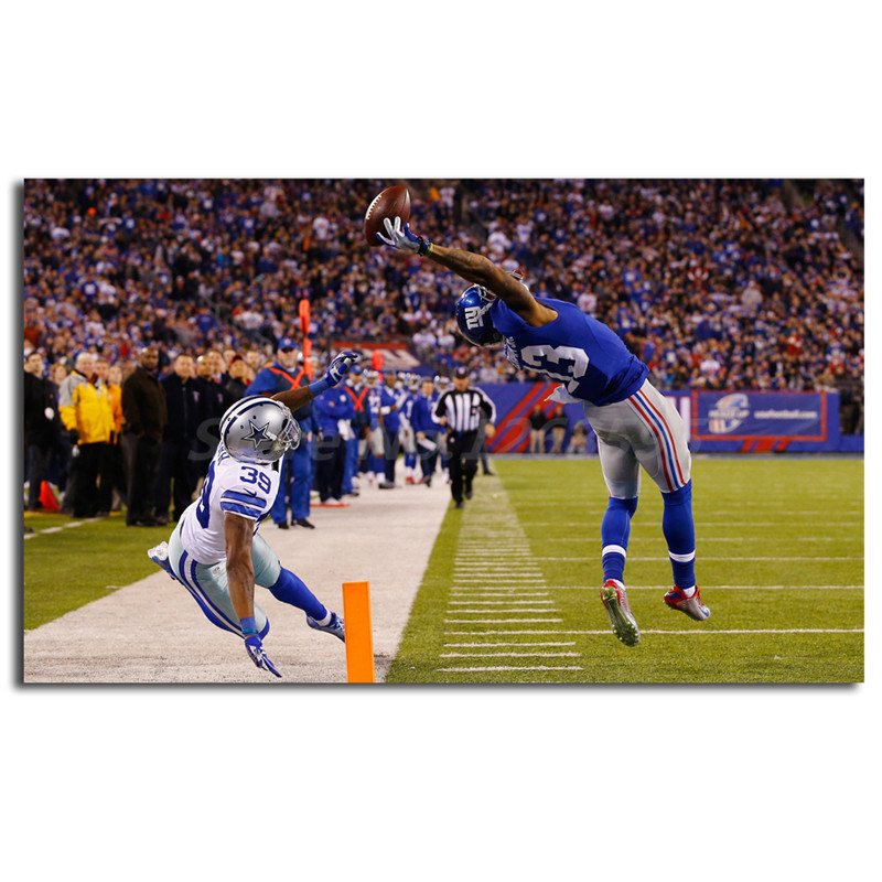 Odell Beckham Jr One Handed Catch HD Wallpaper Canvas Painting Print Living Room Home Decor Modern Wall Art Oil Painting Poster-in Painting & Calligraphy ...