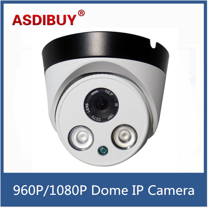 Array IR LED 960P 1080P network Camera CCTV Security Home IR Cut Indoor metal Dome Infrared Night Vision Surveillance camera free shipping sony ccd cctv camera 1200tvl ir cut filter security ir dome camera indoor home security night vision video camera