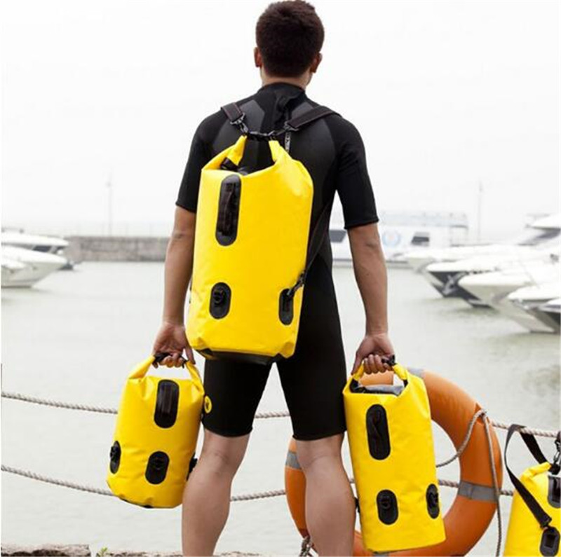Maxped Thickened PVC Drifting Bag Waterproof Dry Bag Backpack Canoe Kayak Rafting Floating Storage Bags Folding Travel Kits