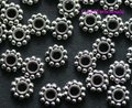 OMH wholesale free ship! 100pcs tibetan silver daisy spacer beads Jewelry  Findings metal beads 6.5X1.5mm ZL121