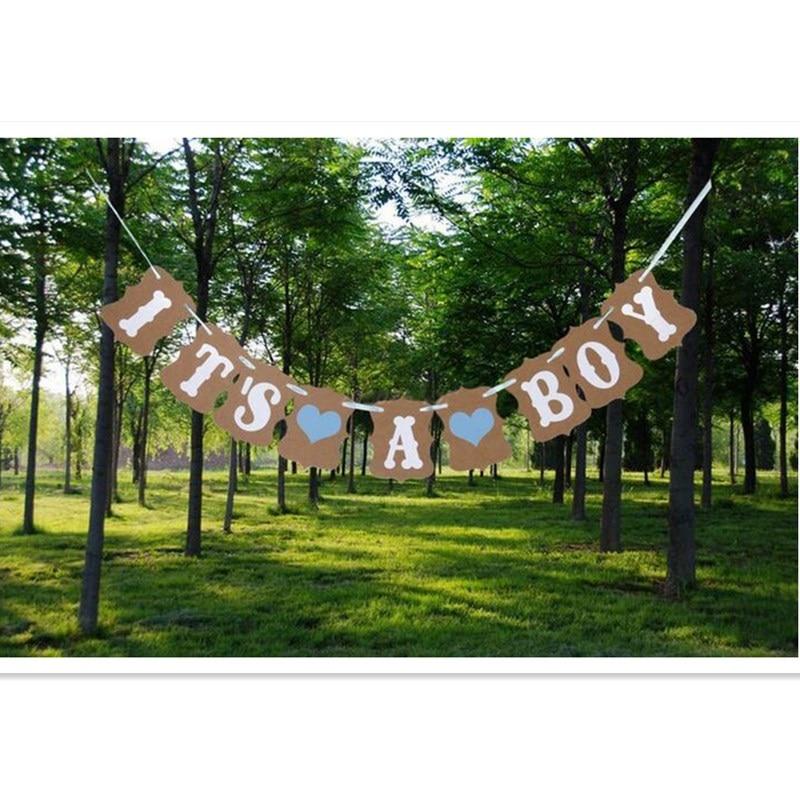 Det är en pojke bokstäver kraft banner krans födelsedagsfest - Semester och fester