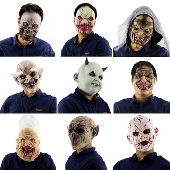 halloween latex mask old man latex mask for masquerade halloween costume party bar realistic lightweight horror decoration