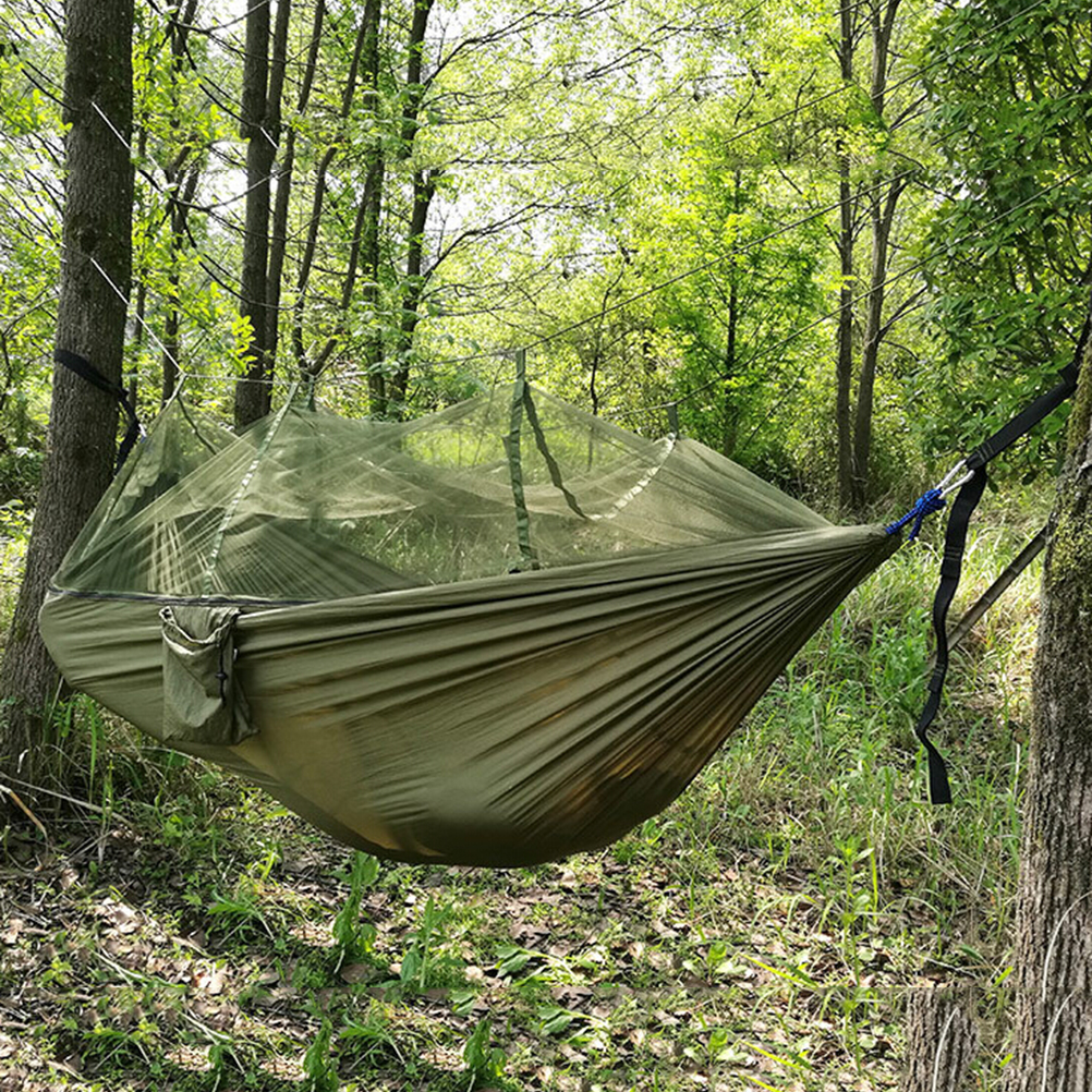 Outdoor bed forest - Outdoor Camping Double Hammock Tree 2 Person Patio Bed Swing With Mosquito Net China