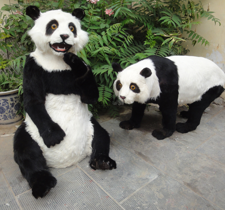 big simulation panda toy polyethylene&furs black&white panda models doll 0553