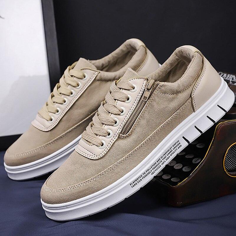Canvas Shoes Men Fashion Sneakers Designers Shoes 2019 Autumn Trendy Zipper Male Sneakers Man Shoes Zapatillas Hombre
