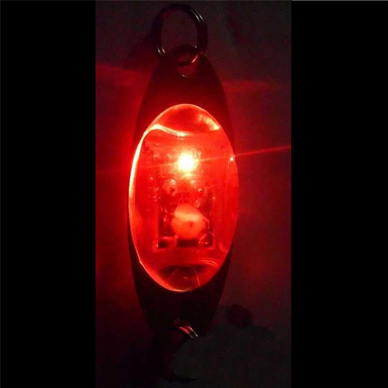 OOTDTY LED fishing tool accessories Deep Drop Underwater Eye Shape Fishing Squid Fish Lure Light Flashing Lamp