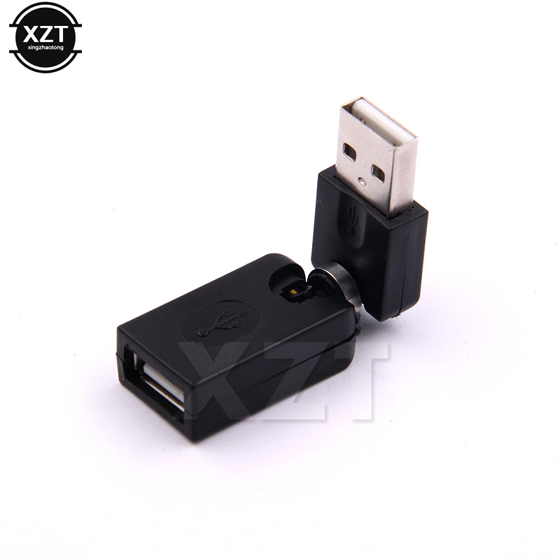 Male to Female Adapter Converters 360 Degree Fold Rotating USB 2.0 Pop@/&