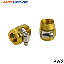 Hose-Clamp Hose-Fittings Fuel-Oil 1lot 2pcs Hex AN8 Id:17.75mm Water-Tube Finishers YC100820