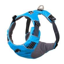 купить Reflective Dog Harness Accessories Pet Dog Training Vest for Large Dogs Puppy Adjustable Professional K9 Harness Collar Blue New по цене 378.41 рублей