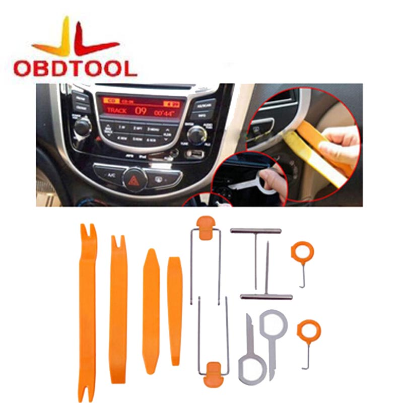 Hot One Set 12 Pcs Useful Plastic Car Radio Audio Door Repairing Clip Auto Panel Trim Dash Removal Pry Tool Kit