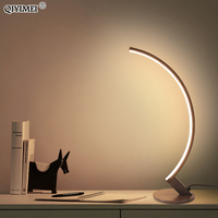 iron AC85-265V table lamps for bedroom desk reading-lights Dimmable white coffee frame lampe de table