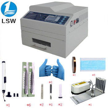 T-937 desktop lead-free reflow oven infrared IC heater T937 reflow oven BGA SMD SMT rework station T 937