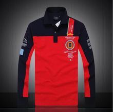 Naujas 2016 m. Aeronautica militare camisa masculina polo menas Ilgos rankovių marškiniai, aukštos kokybės oro pajėgos vienas ryklys drabužiai