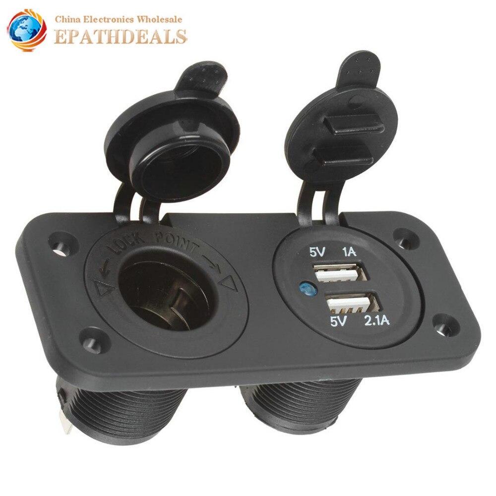 12v Car Cigarette Lighter Plug Adapter Socket Splitter