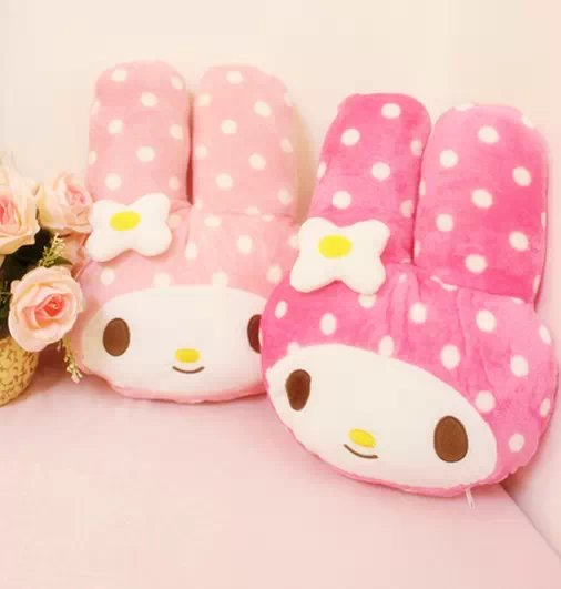 Plush 1pc soft My Melody dot sweet rabbit office cushion warm blanket stuffed toy romantic Valentine