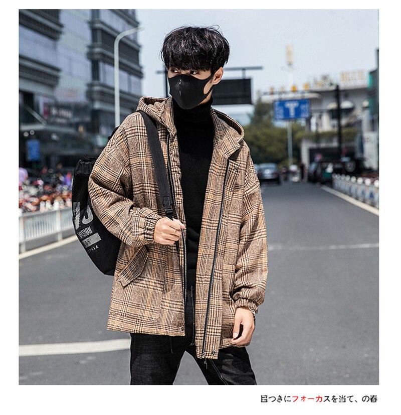 Male Long Coat Oversize Lapel Button Sobretodos Hombre Overcoat Streetwear (29)