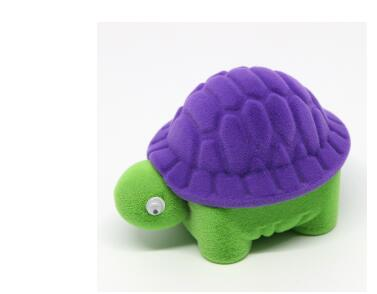 10pcs/lot free shipping creative style velvet jewelry box cartoon turtle jewelry box earring ring necklace displays box cases
