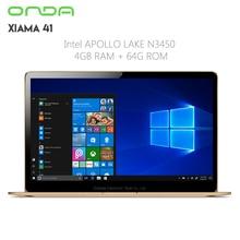 Original Onda Xiaoma 41 Laptop 14.1 inch Windows 10 Intel Apollo Lake Celeron N3450 Quad Core 1.1GHz 4GB RAM 64GB eMMC Dual WiFi