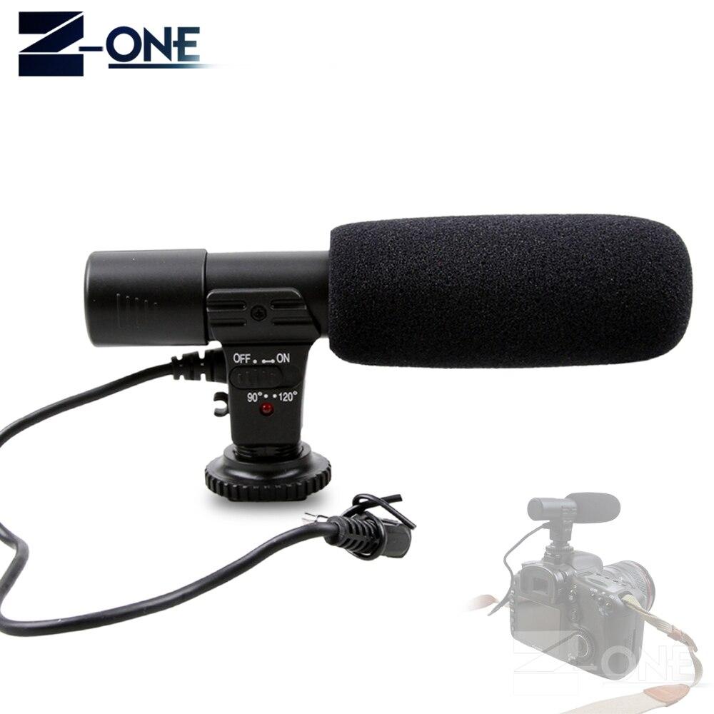 Mic-01 Professional Camera External Stereo Microphone For Nikon D7500 D7200 D5600 D5500 D5300 D3300 D810 D750 D500 D5 D4